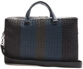 Bottega Veneta Intrecciato tri-colour leather briefcase