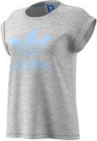 adidas Cotton Cuffed Boyfriend T-Shirt