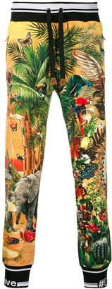 Dolce & Gabbana Printed Track Pants