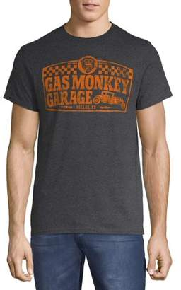 Men's Gas Monkey Garage Checkered Logo Graphic T-Shirt