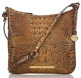 Brahmin Toasted Almond Collection Jody Croco-Embossed Cross-Body Bag