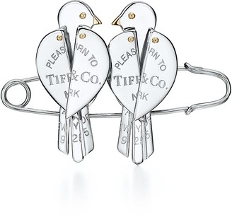 Tiffany & Co. Return to TiffanyTM Love Bugs bird brooch in sterling silver and 18k gold