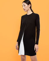 TAHLEA Front fold sweater dress