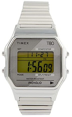 Timex 34 mm T80 (Silver/Silver/Silver) Watches
