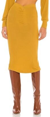 NBD Dip Waist Midi Skirt