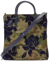 Banana Republic Zip-Top Floral Camo Tote