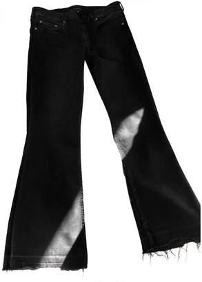 Berenice \N Black Cotton - elasthane Jeans for Women