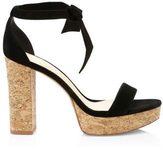 Alexandre Birman New Celine Suede Platform Sandals