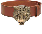 Gucci feline buckle belt - women - Calf Leather/Brass - 90