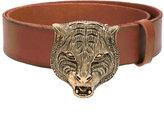 Gucci feline buckle belt