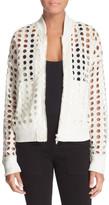 Tracy Reese Eyelace Lace Varsity Jacket