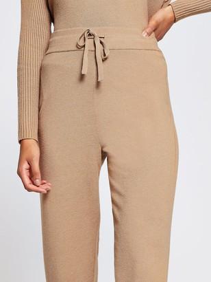 River Island Knitted Slim Leg Jogger - Camel