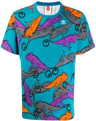 adidas PT3 chameleon print T-shirt