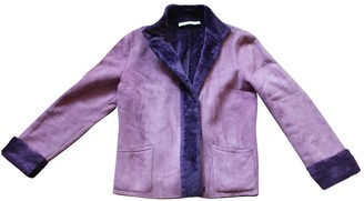 Guy Laroche Purple Suede Coat for Women Vintage