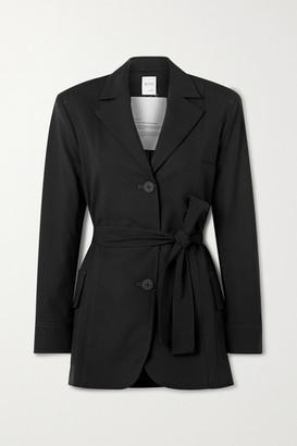 BITE Studios + Net Sustain Belted Organic Wool-blend Jacket - Black