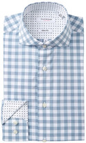 Isaac Mizrahi Multi Check Slim Fit Dress Shirt
