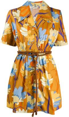 Fendi Floral-Print Dress