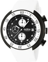Redline Red Line Men's Diver Chronograph Dial White Silicone Watch RL-50038-BB-01-WHT