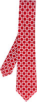 Kiton geometric circle print tie - men - Silk - One Size