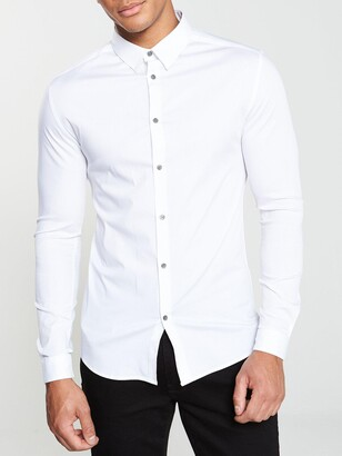 River Island Long Sleeve Muscle CVC Shirt
