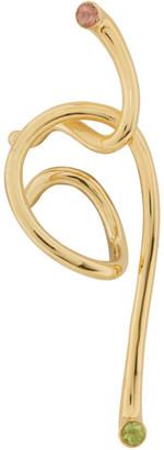 ANNE MANNS Gold Gemstomes Single Pepa Ear Cuff