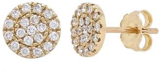 Overstock 14k Yellow Gold 0.46ctw Diamond Circular Disc Stud Earrings