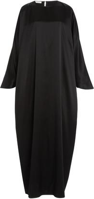 LA COLLECTION Epione Silk Satin Maxi Dress