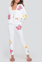 Wildfox Couture White Floral Sweatpants