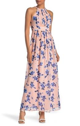 Eliza J Floral Print Maxi Dress