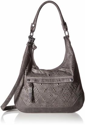 Frye Melissa Studded Large Zip Hobo Handbag