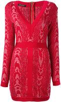 Balmain Moire patterned mini dress - women - Polyamide/Viscose - 36