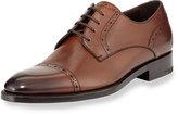 Ermenegildo Zegna Cap-Toe Derby Shoe, Brown