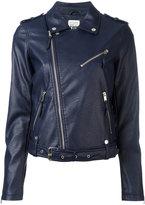 Twin-Set zip up biker jacket - women - Cotton/Polyester/Polyurethane/Viscose - L