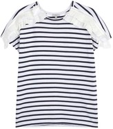 Clu Striped Ruffled Jersey T-shirt