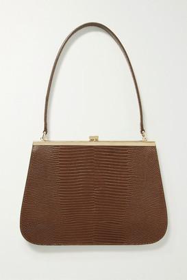 TL-180 Anouk Lizard-effect Leather Shoulder Bag - Brown