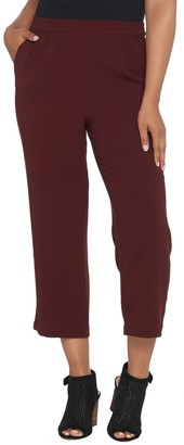 Linea by Louis Dell'Olio Petite Crepe Gauze Pull-On Crop Pants