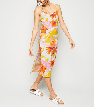 New Look Cameo Rose Floral Midi Dress