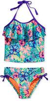 Breaking Waves 2-Pc. Hawaiian Dream Ruffle Tankini Swimsuit, Little Girls (2-6X)