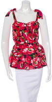 Dolce & Gabbana Floral Print Bustier Top w/ Tags