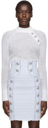 Balmain White Mohair Sweater