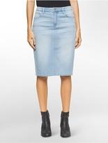 Light Wash Denim Skirt - ShopStyle