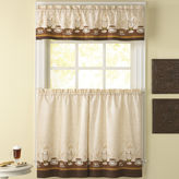 CHF Caf Au Lait 3-pc. Rod-Pocket Kitchen Curtain Set