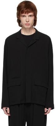 The Viridi-anne Black Pocket Overshirt Jacket