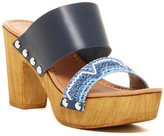 Charles David Cognac Platform Heel Sandal