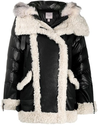 Urban Code Shearling Trim Coat