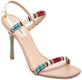 Valentino Tribe Beaded Leather Sandals