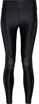 Koral Harlow Mesh-paneled Stretch Satin-jersey Leggings