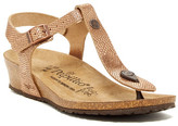 Birkenstock Papillio By Ashley T-Strap Wedge Embossed Sandal - Narrow Width - Discontinued