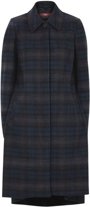 High Embrace checked panelled cotton-blend coat