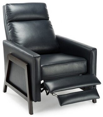 Brayden Studio Maxille Manual Recliner Fabric: Midnight Blue Faux Leather